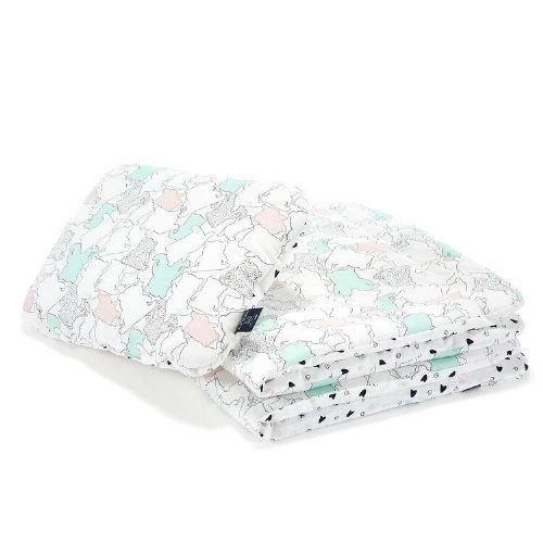 "La Millou I LOVE PANDA PURE & XOXO BEDDING WITH FILLING JUNIOR ""L"""